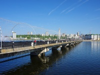 , bridge Пешеходный через Чебоксарский залив , bridge Пешеходный через Чебоксарский залив