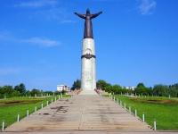 набережная Историческая. монумент Матери-Покровительницы Чувашского народа