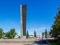 площадь Победы. памятник Воинам-алтайцам, погибшим в годы Великой Отечественной войны в 1941-1945 гг.