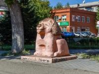 "Барнаул, Строителей проспект. скульптура ""Лев"""