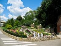 """Краснодар, улица Трамвайная. фонтан """"В парке Солнечный остров"""""""