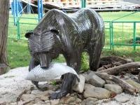 Геленджик, улица Чайковского. малая архитектурная форма Медведь