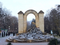 Горячий Ключ, памятник 140 лет курортуулица Ленина, памятник 140 лет курорту