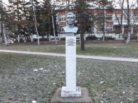 Горячий Ключ, памятник А.Н. Остапенкоулица Ленина, памятник А.Н. Остапенко