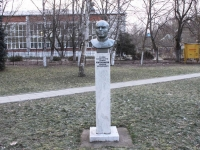 Горячий Ключ, памятник А.М. Рогожниковуулица Ленина, памятник А.М. Рогожникову