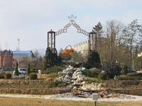 Goryachy Klyuch, 纪念碑 Сосуд - символ городаLenin st, 纪念碑 Сосуд - символ города