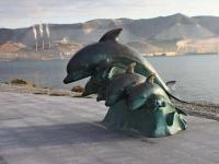 Новороссийск, малая архитектурная форма Дельфиныулица Набережная Адмирала Серебрякова, малая архитектурная форма Дельфины