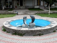 Novorossiysk, fountain ДельфиныDzerzhinsky avenue, fountain Дельфины