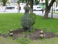 Новороссийск, улица Советов. малая архитектурная форма Курица с цыплятами