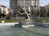Новороссийск, фонтан Дарящая водуулица Мира, фонтан Дарящая воду