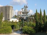 Сочи, скульптура Морская прогулкаулица Войкова, скульптура Морская прогулка