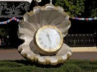 улица Егорова. малая архитектурная форма Часы жемчужина