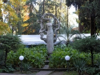 Sochi, sculpture ДевушкаEgorov st, sculpture Девушка