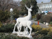 Sochi, sculpture ОлениKurortny avenue, sculpture Олени