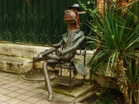 Сочи, скульптура Конь в пальтоулица Театральная, скульптура Конь в пальто