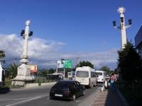 Sochi, bridge Через реку МзымтаLenin st, bridge Через реку Мзымта