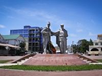 Сочи, улица Интернациональная. памятник Адлерцам, павшим за Родину в боях Великой Отечественной Войны 1941-1945 гг.