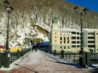 Сочи, мост Пешковнабережная Лаванда (п. Красная Поляна), мост Пешков