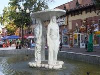 Ейск, улица Свердлова, фонтан