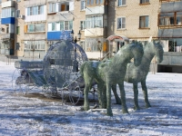 Slavyansk-on-Kuban, sculpture КаретаKrasnaya st, sculpture Карета