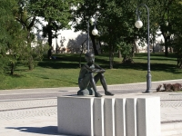 阿斯特拉罕, 雕塑 МальчикLenin sq, 雕塑 Мальчик
