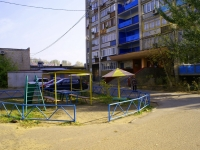 Astrakhan, Vorobiev Ln, house 12 к.1. Apartment house with a store on the ground-floor