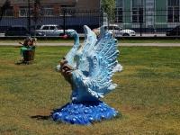 Astrakhan, sculpture ПтицаMaksakovoy st, sculpture Птица