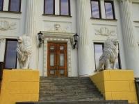"""Волгоград, улица Мира. скульптура """"Львы"""""""