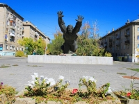 Волгоград, Металлургов проспект. памятник Михаилу Паникахе
