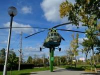Воронеж, Ленинский проспект. монумент Вертолет МИ-8Т