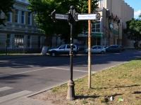 Воронеж, улица Карла Маркса. малая архитектурная форма Указатель