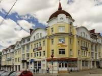Kaluga, Dostoevsky st, house 25. Apartment house with a store on the ground-floor