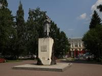 Кемерово, улица Дзержинского. памятник рудознатцу М. Волкову