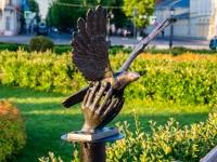 """Кострома, Мира проспект. скульптура """"Символ мира"""""""