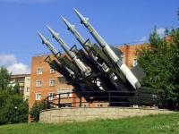 Дзержинский, монумент Пусковая установка зенитно-ракетного комплексаулица Лермонтова, монумент Пусковая установка зенитно-ракетного комплекса