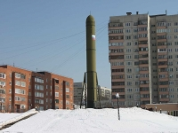 neighbour house: st. Dzerzhinskaya. monument создателям ракетного щита России