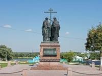 Kolomna, monument Кириллу и МефодиюLazarev st, monument Кириллу и Мефодию
