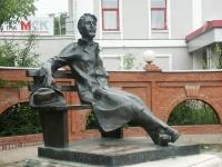 Серпухов, памятник А.П.Чеховуулица Чехова, памятник А.П.Чехову