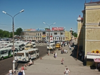 Serpukhov, railway station Железнодорожный, Privokzalnaya sq, house 1