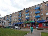 Voskresensk, Mendeleev st, house 3. Apartment house with a store on the ground-floor