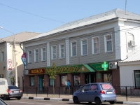 Yegoryevsk, Sovetskaya st, house 121А. Apartment house with a store on the ground-floor