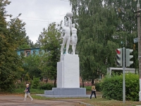 叶戈里耶夫斯克, 纪念碑 Покорителям космосаLenin avenue, 纪念碑 Покорителям космоса