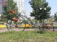 Люберцы, улица Красная. малая архитектурная форма Клумба-велосипед