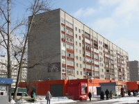 Lyubertsy, Voinov Internatsionalistov st, house 3. Apartment house with a store on the ground-floor