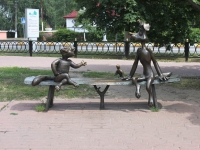 Ramenskoye, sculpture Матроскин и ШарикGuriev st, sculpture Матроскин и Шарик