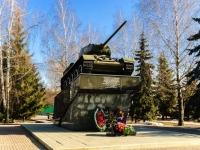 Чехов, улица Советская Площадь. памятник Танк фронтовой