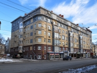 Nizhny Novgorod, Bolshaya Pechyorskaya st, house 32. Apartment house with a store on the ground-floor