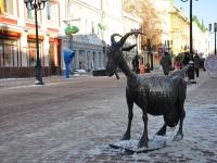 Нижний Новгород, улица Большая Покровская. скульптура Весёлая Коза