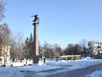 Nizhny Novgorod, sculpture Георгий Победоносец на коне, поражающий змеяKreml st, sculpture Георгий Победоносец на коне, поражающий змея