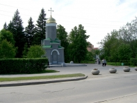 Новосибирск, улица Римского-Корсакова, дом 1/1К1. часовня Во имя Святого Георгия Победоносца